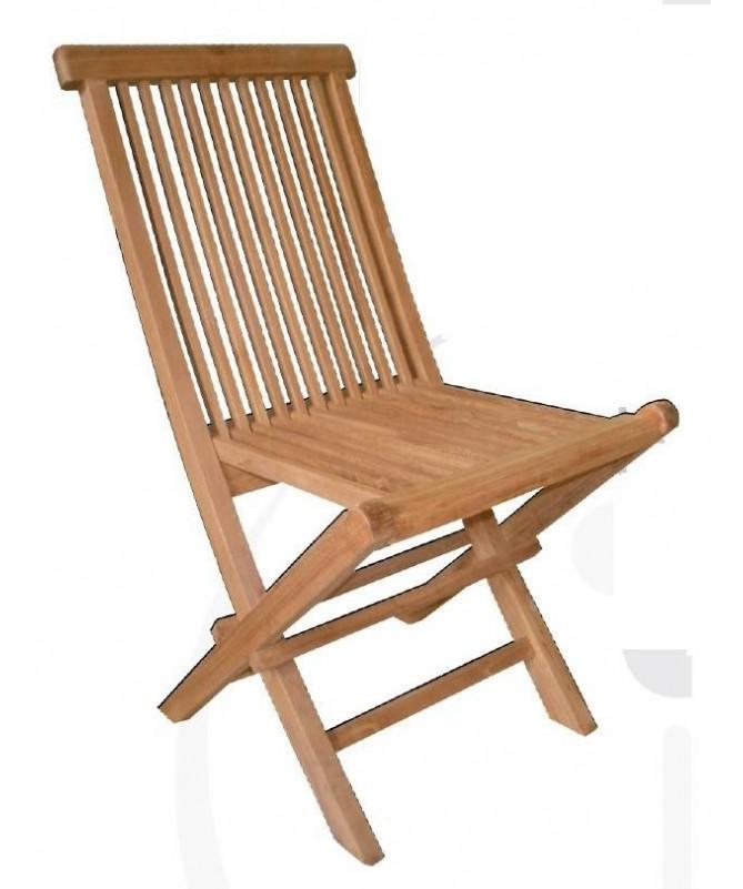 Sedia pieghevole in legno Teak - set da 2