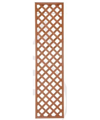 Grate in legno rettangolari 50 x 200 cm - set da 4