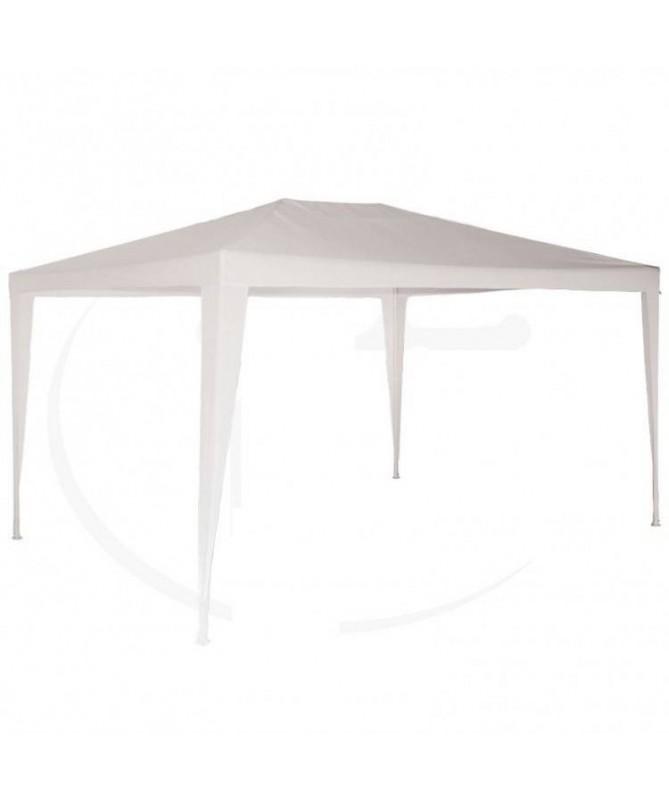 Gazebo tubolare con telo bianco - 300 x 300 cm