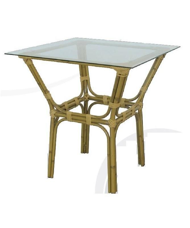 Tavolo Cordoba in alluminio effetto canna di bamb?