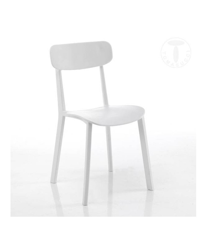 Sedia in polipropilene Mara - set da 4 bianco