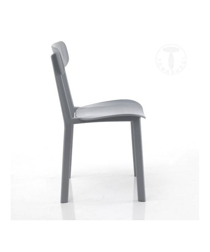 Sedia in polipropilene Mara - set da 4 grigio