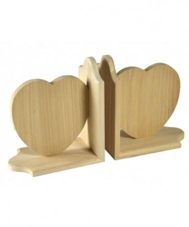 Reggilibri a coppia a forma di cuore - 12 pezzi