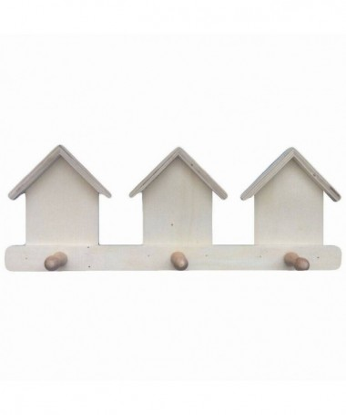 Appendini casette con tre posti in balsa - 48 pezzi