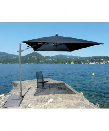 Ombrellone palo laterale Pool Made in Italy - 200 x 300 cm