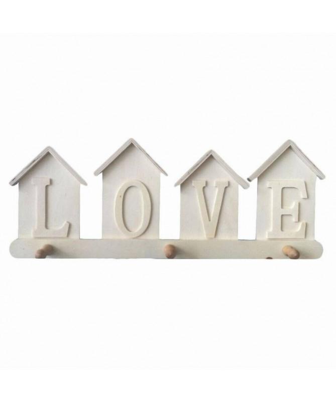 Appendini Love con tre posti in balsa - 24 pezzi