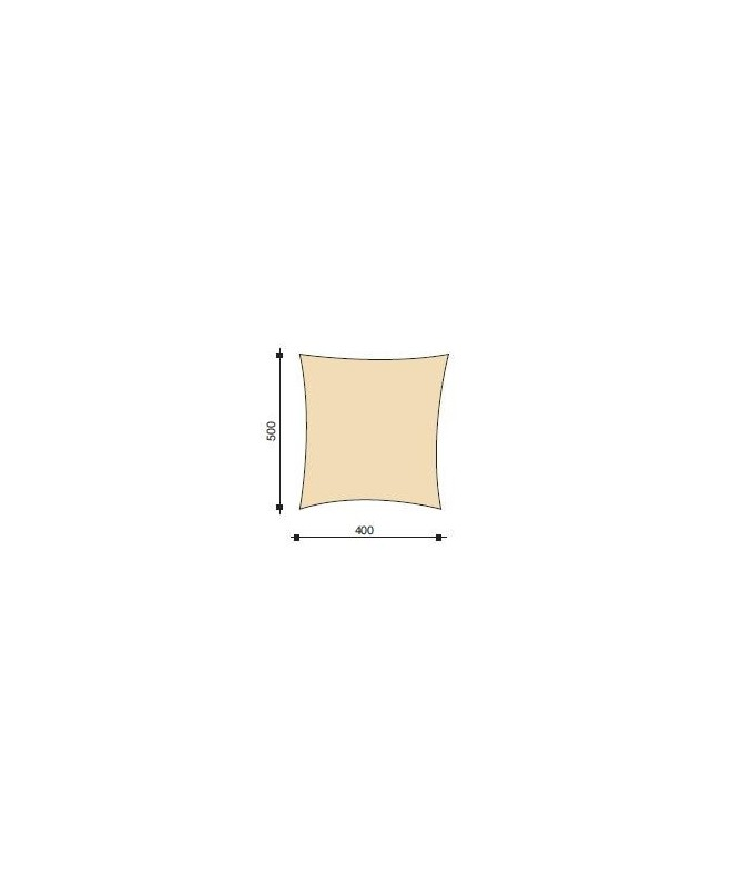Vela ombreggiante Manta - 500 x 400 cm
