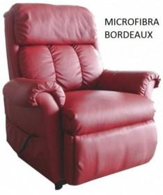 POLTRONA NADIA MICROFIBRA BORDEAUX MASSAGGIANTE CON FUNZIONE DI ALZATA IN PIEDI ELETTRICA