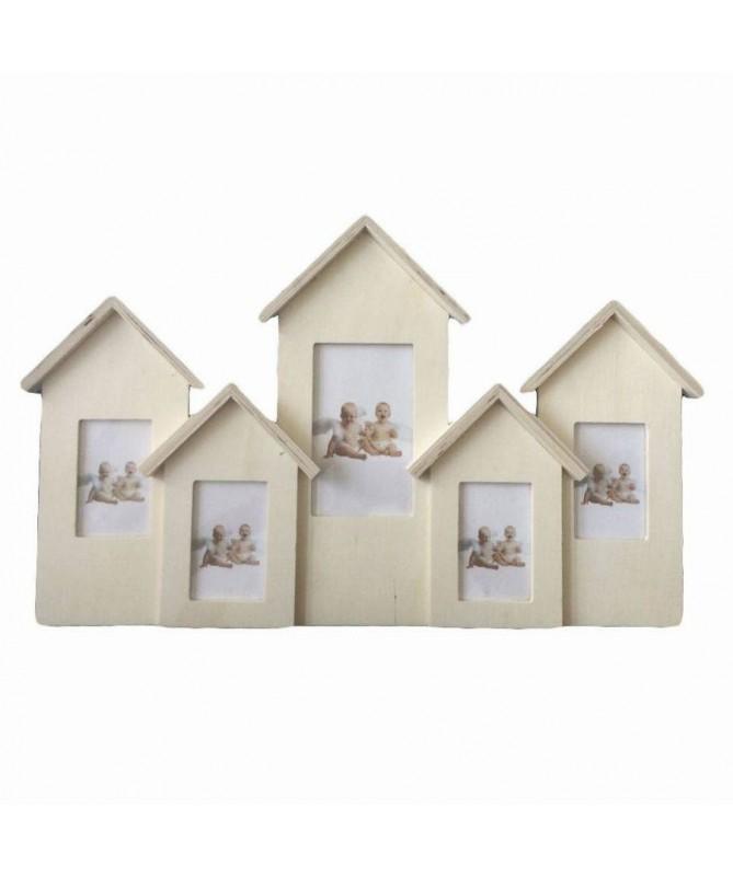 Portafoto da muro con casette - 16 pezzi