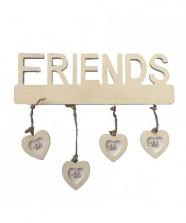 Portafoto a muro Friends con cuori - 24 pezzi