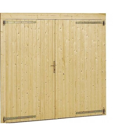 GARAGE BOX AUTO 3454 IN LEGNO con PORTA e SERRATURA