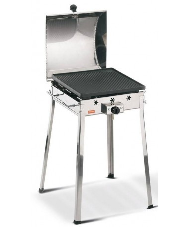 BARBECUE GHISA GAS MONO INOX MADE IN ITALY