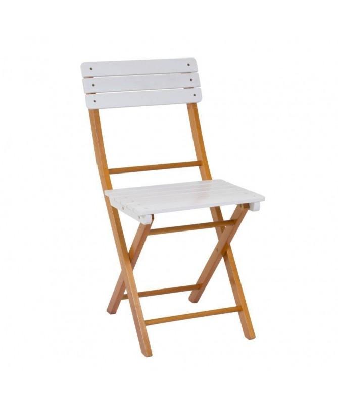 Sedia pieghevole in legno - set da 2 marrone