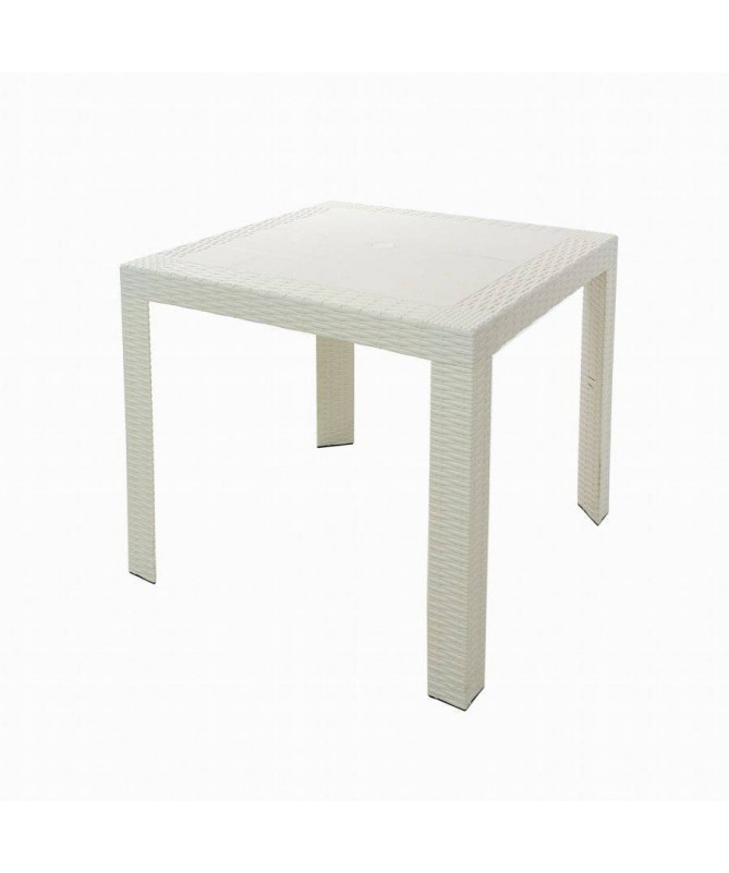 Tavolo Saturno in plastica stampata - bianco