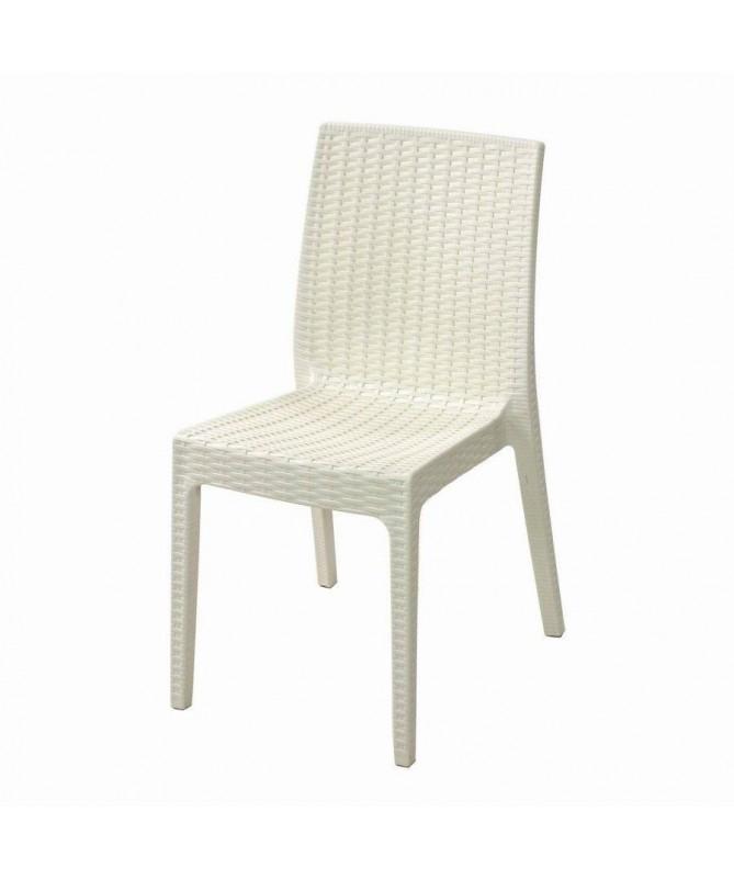 Sedie Selene in plastica - set da 2 bianco