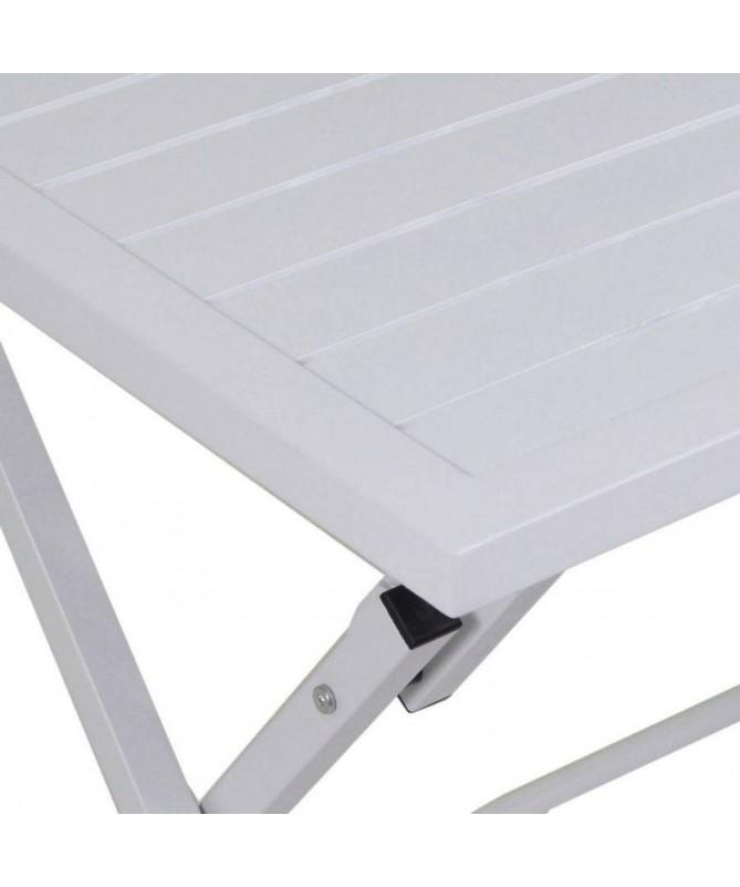Tavolo rettangolare in alluminio - bianco opaco