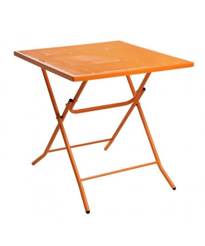 Tavolo in ferro Rimini - arancione