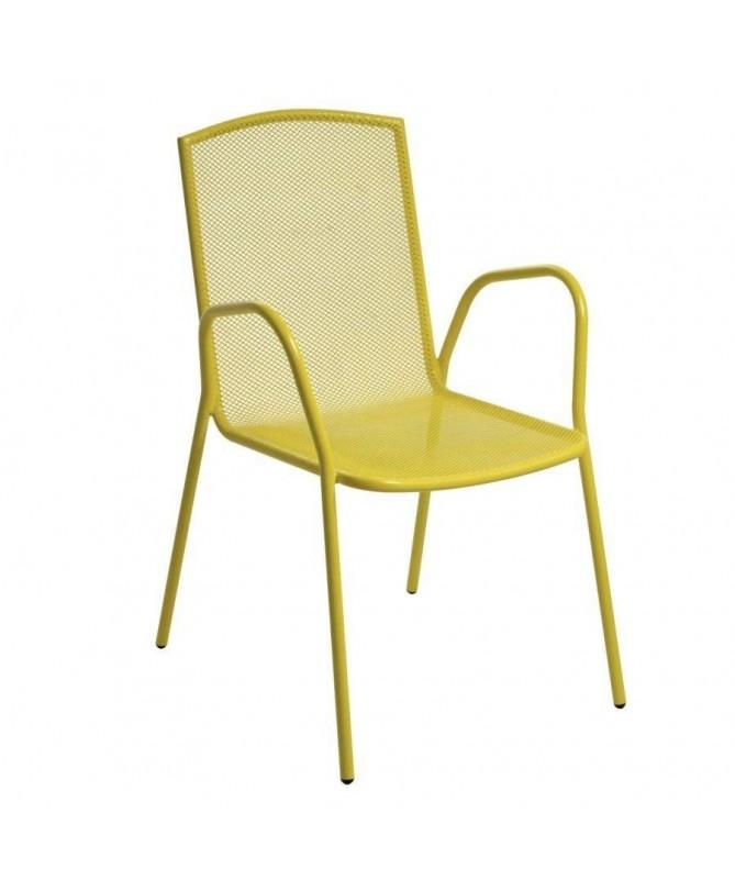 Poltrone in ferro Rimini - set da 2 giallo