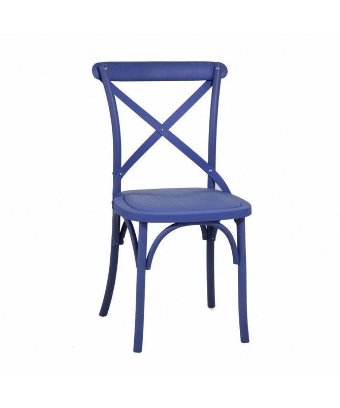 Sedia in plastica Cross - set da 2 blu