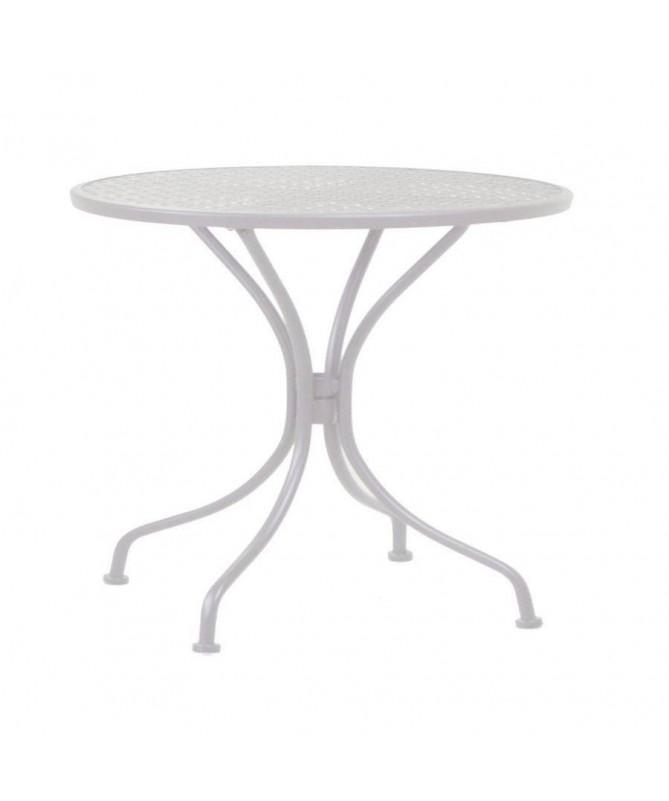 Tavolo Ivrea in ferro tondo - bianco