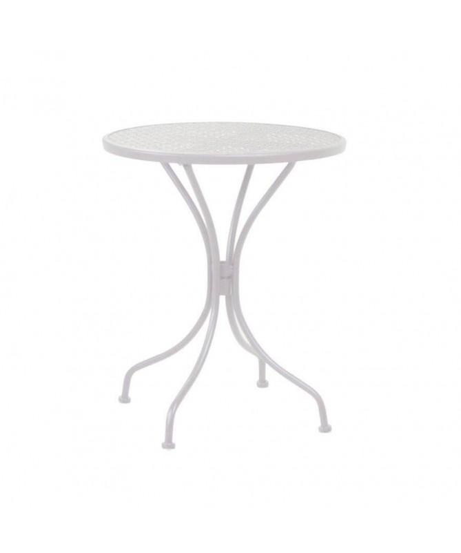 Tavolo Ivrea in ferro tondo piccolo - bianco
