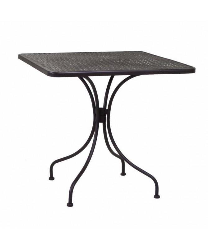 Tavolino in ferro Ivrea - noce