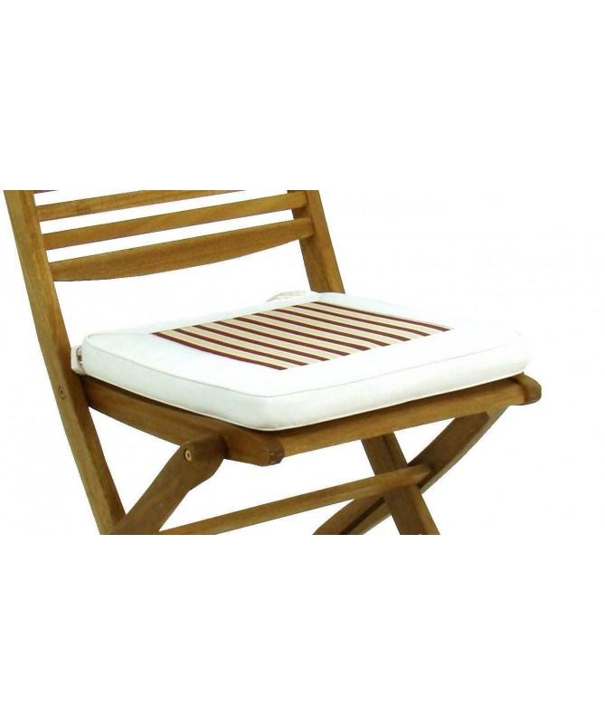 Cuscino per sedia Viet - bordeaux