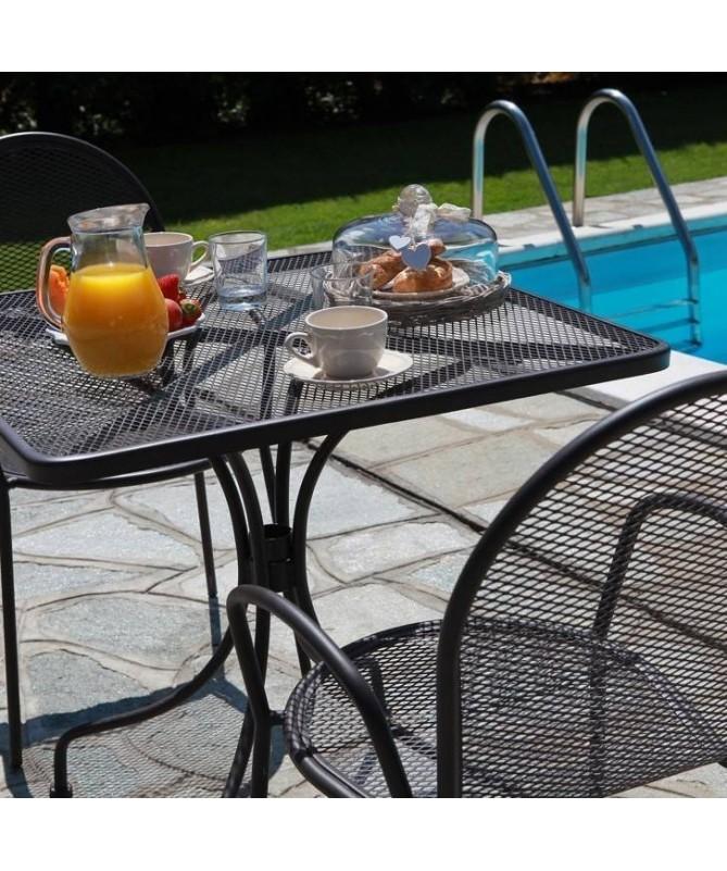 Poltrona da giardino in ferro Ronna - set da 2, bianco