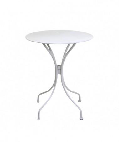Tavolo Piccolo Da Giardino.Tavolino Rotondo Da Giardino In Ferro Old Bianco Di Vacchetti