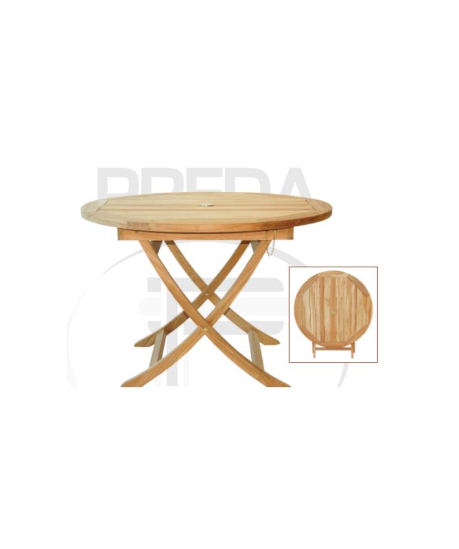 Tavolo rotondo in legno Teak - 110 cm