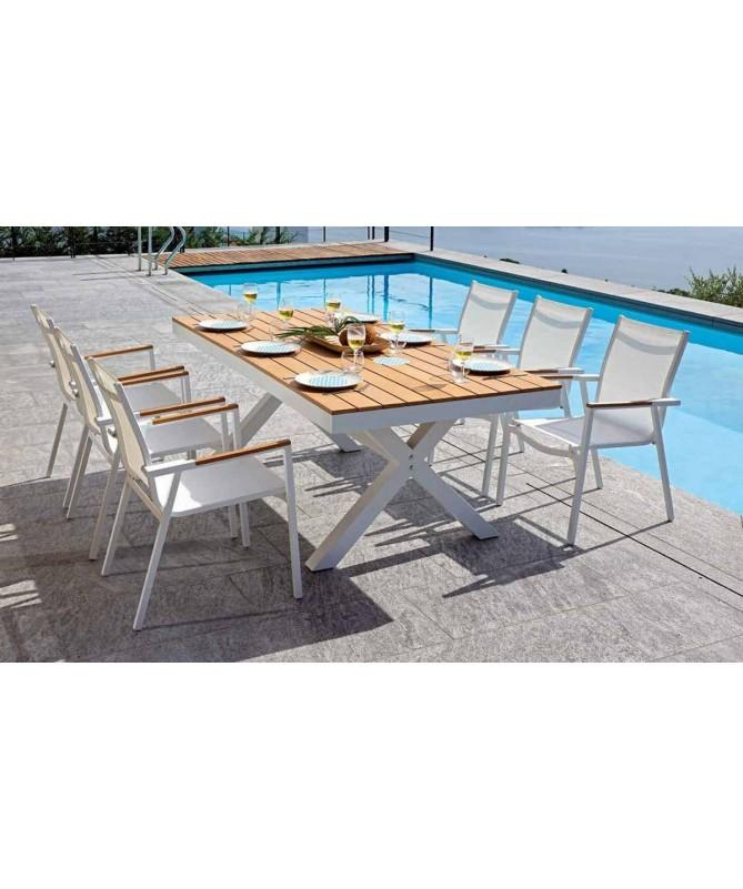 Tavolo Baratti in alluminio e resin wood - 200 x 100 cm