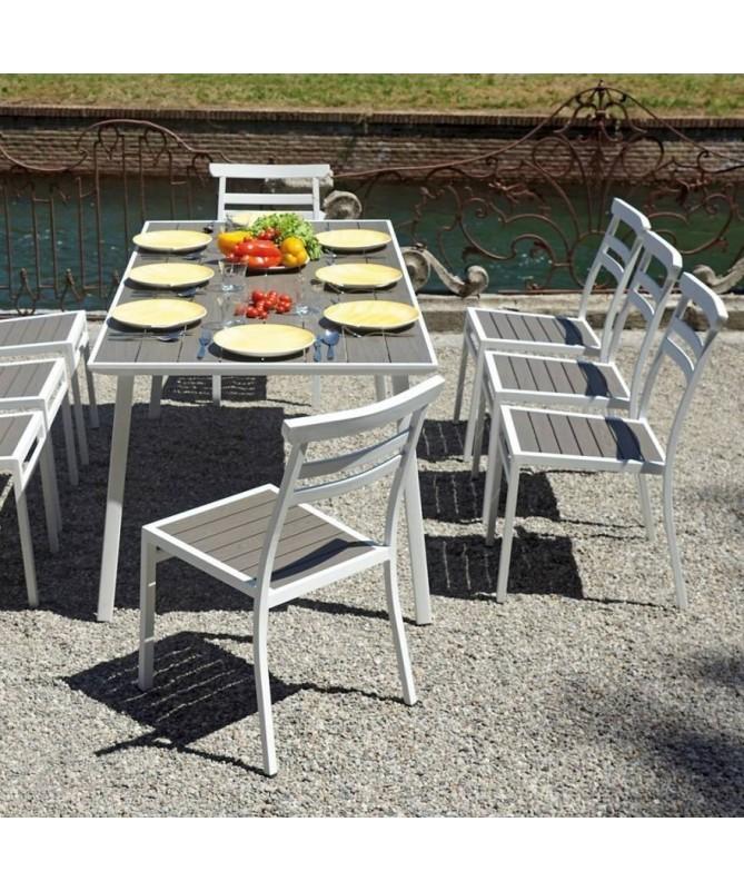 Tavolo Ceriale in alluminio 180 x 90 cm - grigio