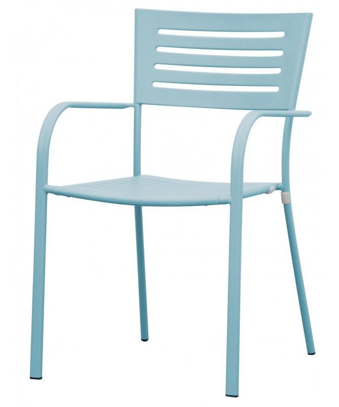 Sedia Taormina in ferro antiruggine - set da 2 azzurro