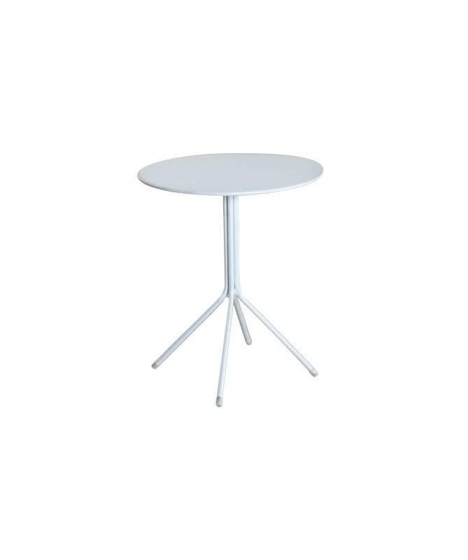Tavolo rotondo in ferro - bianco