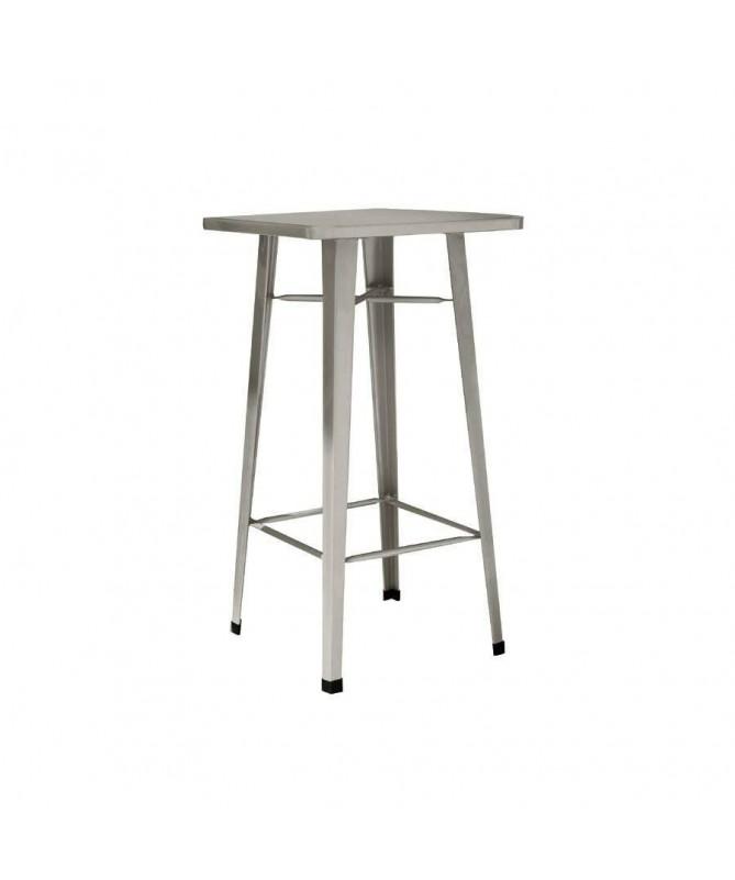 Tavolo alto in lamiera galvanizzata - grigio