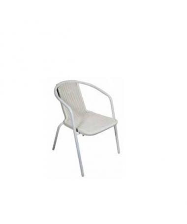 Sedia Contract in ferro - bianco set da 2