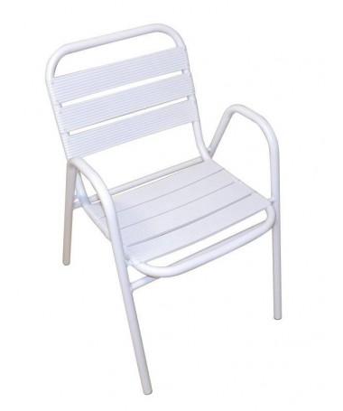 Sedia Calipso in alluminio - set da 2 bianco