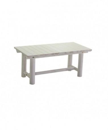 Tavolino rettangolare da giardino in legno Kyoto - bianco