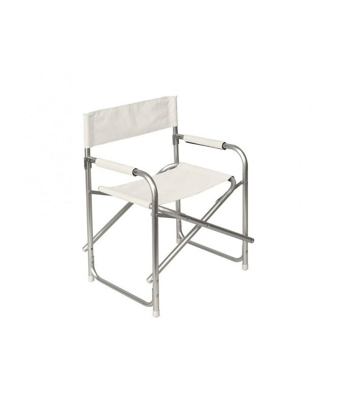 Sedia Da Regista Offerte.Sedie Da Giardino Modello Regista In Alluminio E Poliestere Avorio