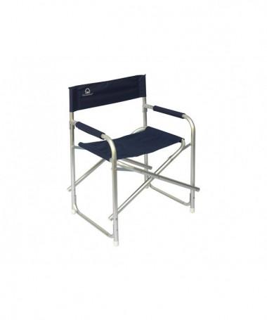 Sedia regista pieghevole in alluminio - set da 6 blu