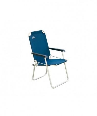 Sedia Relax pieghevole in alluminio - set da 6 blu