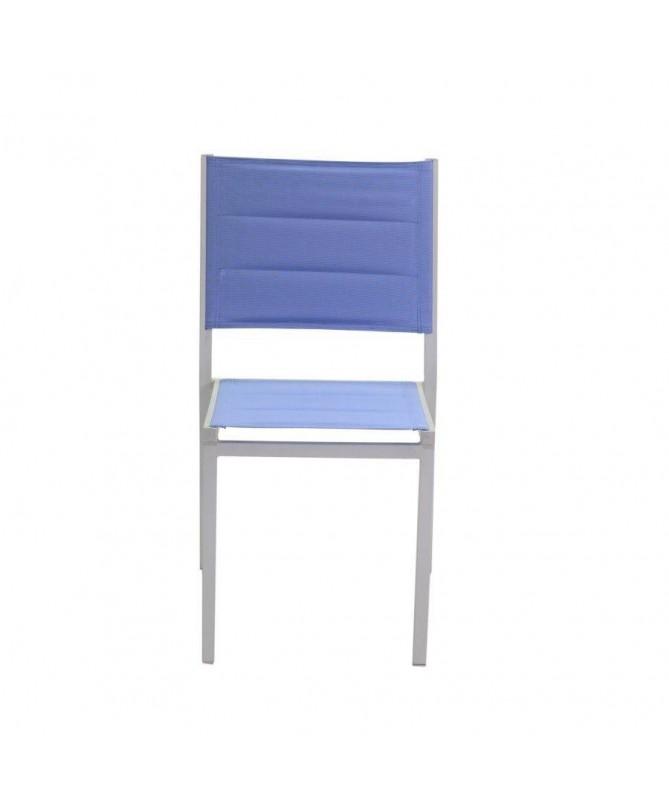 Sedia in alluminio e textilene Ontario - set da 2 azzurro