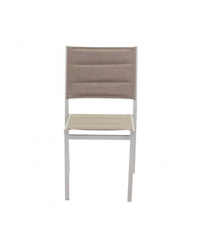 Sedia in alluminio e textilene Ontario - set da 2 crema