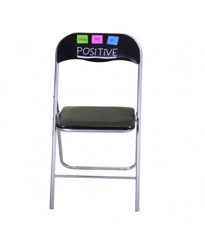 Tavolo metallo positive quadro con due sedie - pieghevole