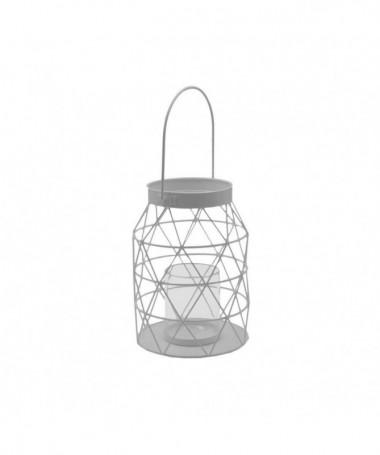 Lanterna in metallo - set da 2 bianco