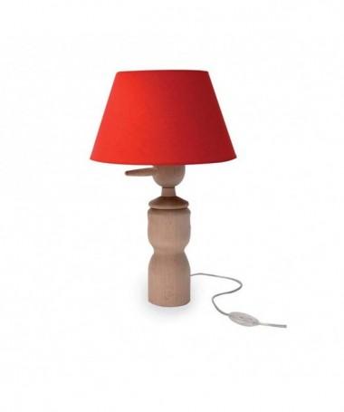 LAMPADA DA TAVOLO PINOCCHIO MADE IN ITALY rosso
