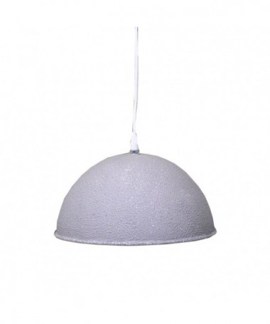 Lampadario in metallo Cupola - Grigio