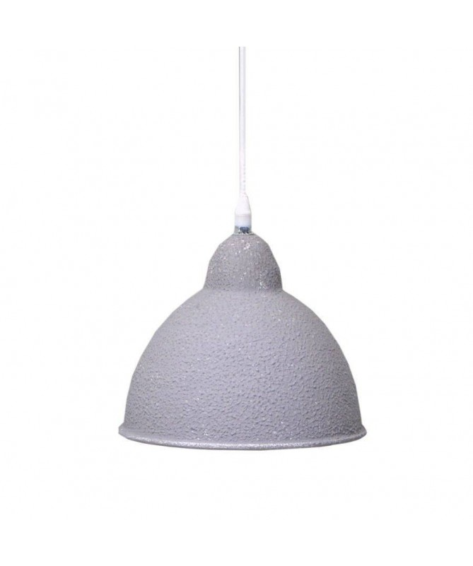 Lampadario in metallo sagomato - Grigio