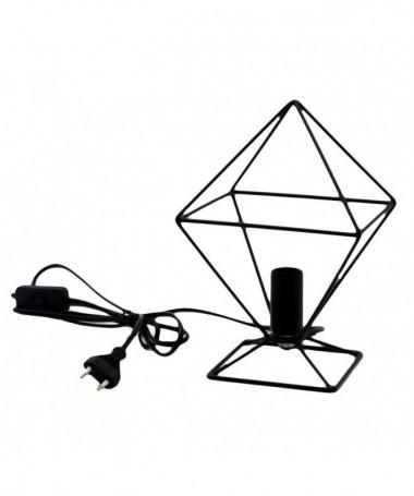 Lampada da tavolo Rombo in metallo - nero
